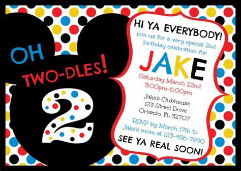 mickey mouse clubhouse party invitations free oxsvitation com