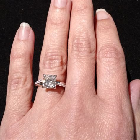 engagement rings cushion cut 2 carat collections of 2ct cushion cut engagement rings