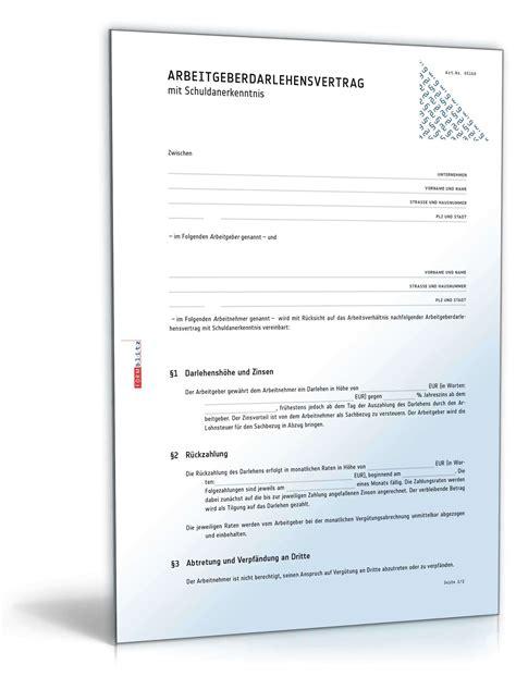 Bearbeitungsgebühr Kredit Musterbrief Pdf Kostenlos Arbeitgeberdarlehensvertrag Mit Schuldanerkenntnis Muster Zum