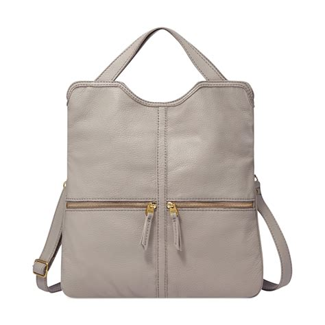 Fossil Tote Grey Bag Zb7126020 lyst fossil erin leather tote in gray