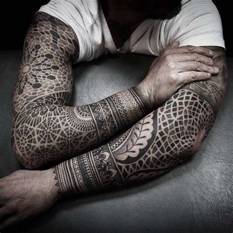tattoo ideas for mens sleeves 99 amazing designs all must see geometric sleeve