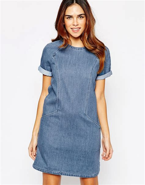Dress Denim womens denim dress model brown womens denim dress image
