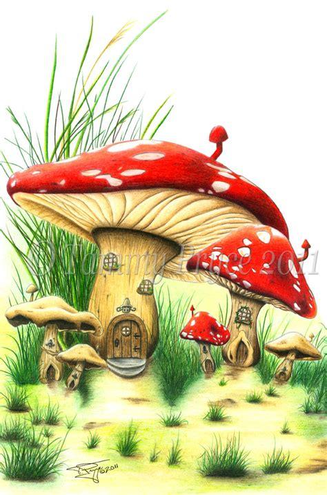 mushroom fairy house mushroom house fairy tale fantasy fine art print