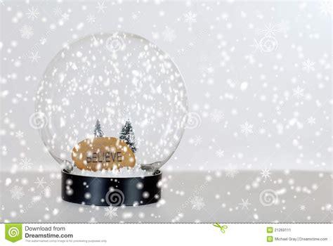 Design House Plans Yourself christmas believe snow globe stock image image 21269111