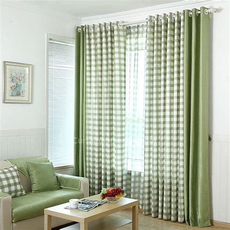 quality cotton classic red and white bedroom plaid curtains with cotton linen and chenille green plaid bedroom curtains