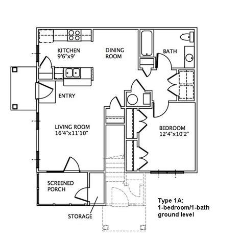 ground level floor plan 1 bedroom floor plans may river village