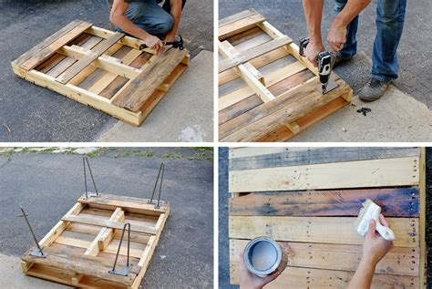 diy desk with hairpin legs diy pallet with hairpin legs