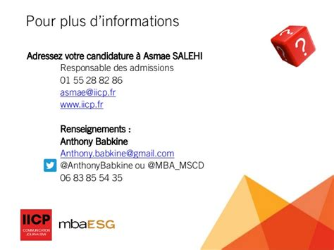 Formation Mba by Formation Mba Esg Strat 233 Gie Et Communication Digitale