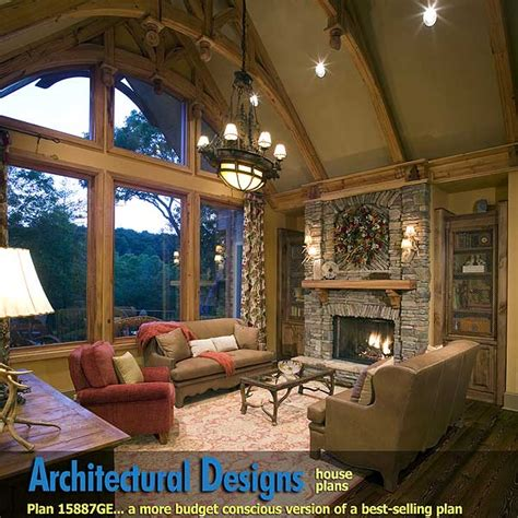 house plans with vaulted ceilings plan w15887ge rustic hip roof 3 bed house plan e