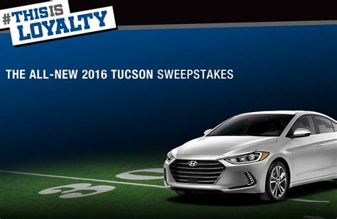 Football Hyundai Sweepstakes - hyundai this is loyalty sweepstakes sweepstakesbible