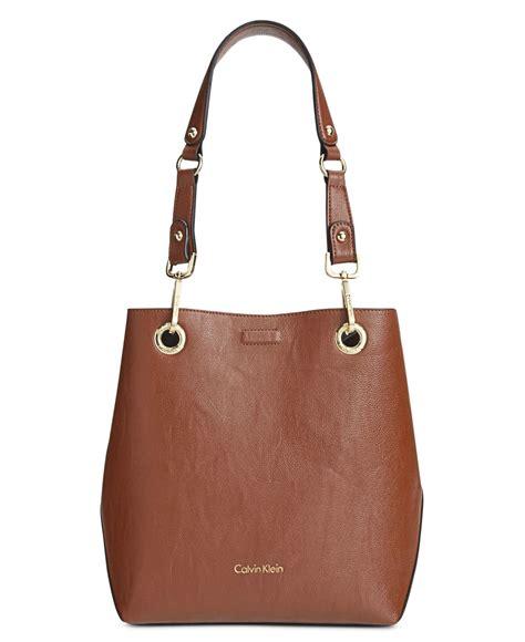 Ck All Day Bag calvin klein reversible bag in bag tote in brown luggage