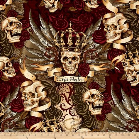 alexander henry upholstery fabric alexander henry skullduggery royal vintage discount