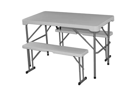 folding table and bench plastic folding table with matching bench set