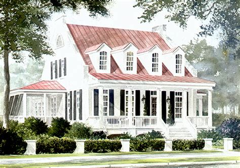 southern living coastal house plans st phillips place watermark coastal homes llc print