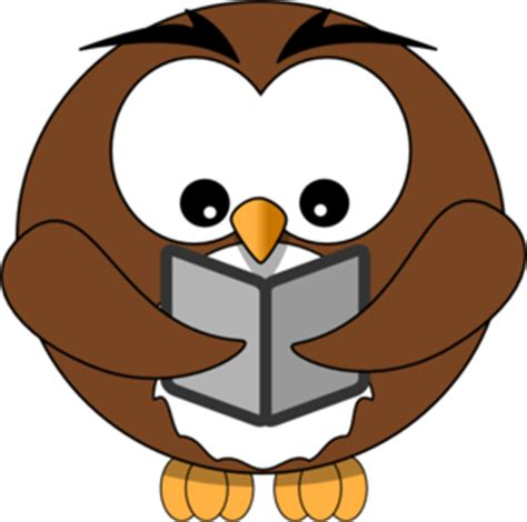 owl reading book reading owl clipart black and white clipart panda free