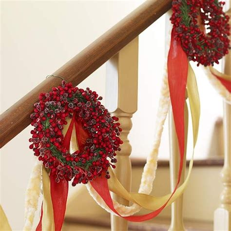 How To Decorate Garland With Ribbon by 100 Awesome Stairs Decoration Ideas Digsdigs