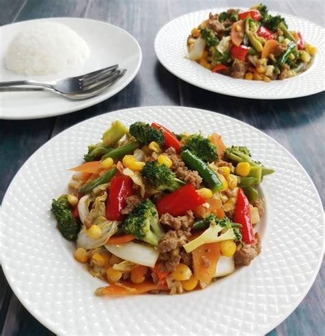 resep cah sayur warna warni  mudah dicoba  rumah