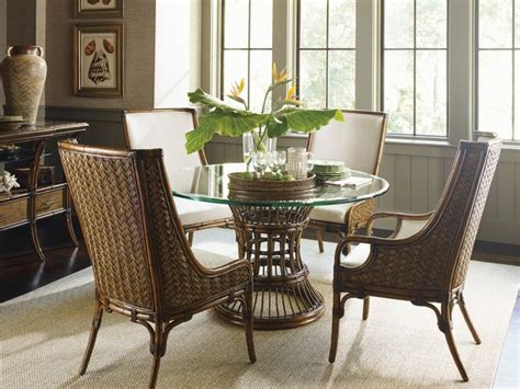 Tropical Dining Room Furniture Bahama Home Bali Hai Tropical 5 Single Pedestal Dining Room Set Tropical Dining
