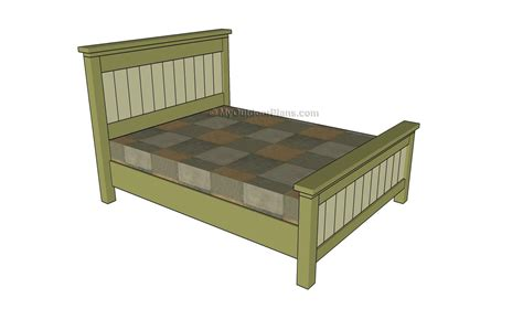 Size Bed Frame Plans by Woodworking Plans For Size Bed Desk Project