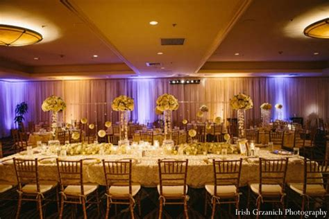 sparkling indian wedding in gold and cream by irish