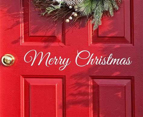 merry christmas window sign merry decal door decor wall decal word merry