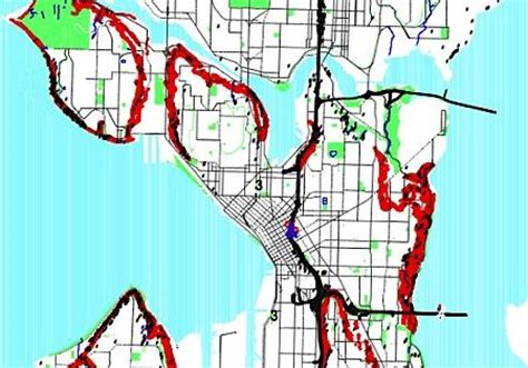 seattle landslide map seattle landslides slip slidin away knkx