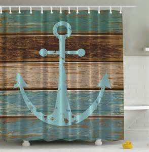 rustic nautical anchor shower curtain whyrll