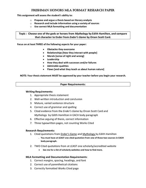 mla style research paper checklist best ideas of mla style cover