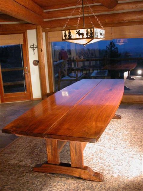 Rustic Conference Table Walnut Slab Custom Conference Table Dumond S Custom Furniture