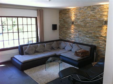 wohnzimmer mit steinwand steinwand innen mit beleuchtung speyeder net