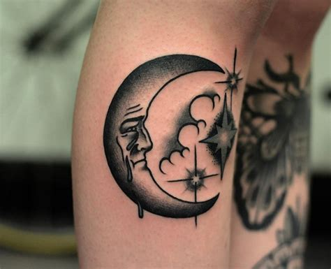 traditional sun tattoo black grey traditional style moon tattoos