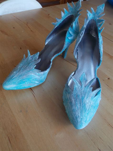 diy elsa shoes elsa shoes progress start to finish valravn