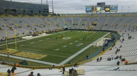 lambeau field section 104 lambeau field section 106 home of green bay packers