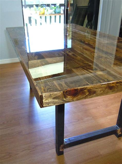 recycled pallet dining table reclaimed wooden pallet dining table pallet furniture plans
