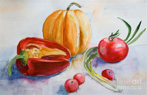 vegetables painting watercolor vegetables painting by jershova