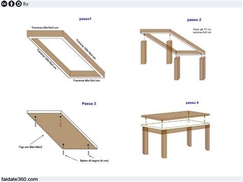come costruire un tavolo in legno per esterno tavolo fai da te
