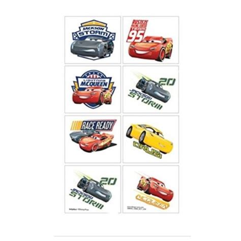 tattoo kit afterpay cars 3 temporary tattoos x 8 kids themed party supplies