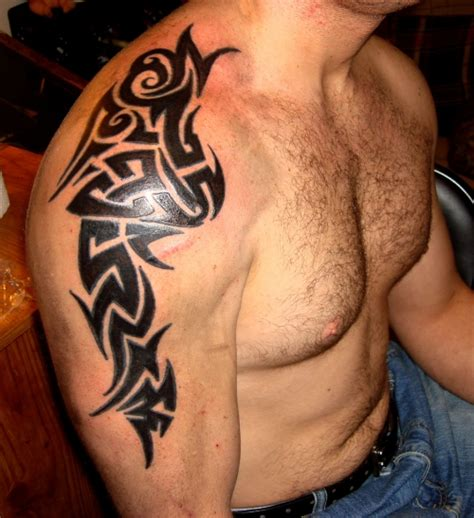 tribal filler tattoo 25 tribal shoulder tattoos which are awesome creativefan