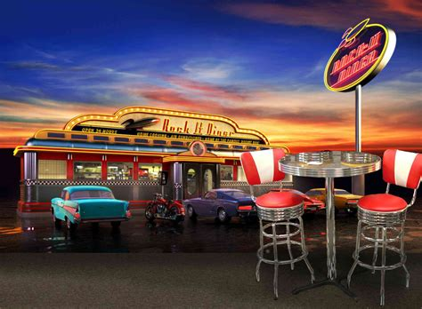 American Car Wallpaper Wall Best by Diner Wallpapers Zyzixun