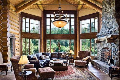 rocky mountain log homes love  room