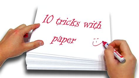 How To Make Paper Tricks - top 10 1 best tricks with paper