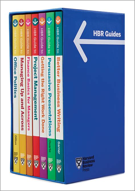 Harvard Mba Textbooks by Hbr Guides Boxed Set 7 Books