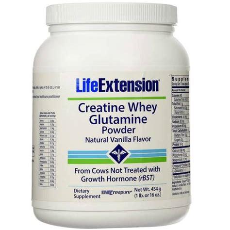 creatine and glutamine extension creatine whey glutamine powder vanilla 1