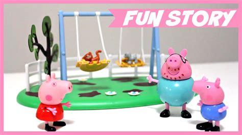 peppa pig swings peppa pig swing slide and see saw playground playsets