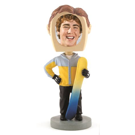 bobblehead picture frame bobbleheads snowboarder sports photos novelty picture