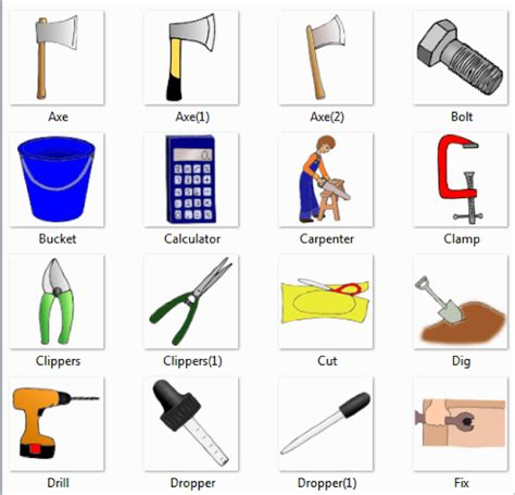 Theory Drill For Children 1 Letter Names tools names list of tools names of tools with picture dictionary for