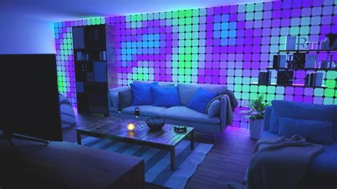B1 Warwolf Gaming Set T nanoleaf wants to cover your walls in color changing light cnet