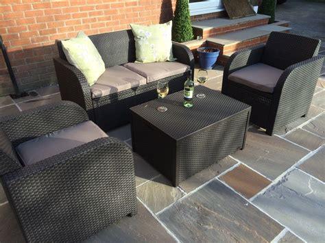 Allibert Patio Furniture allibert keter carolina rattan garden furniture patio set