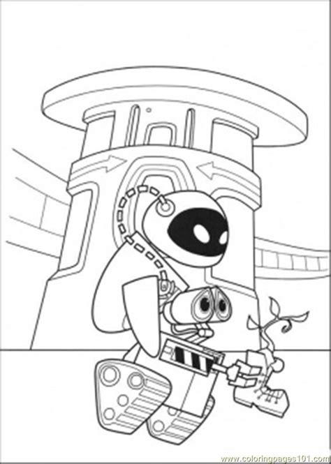 Wall E Coloring Pages by Wall E And Plant Coloring Page Free Wall E Coloring