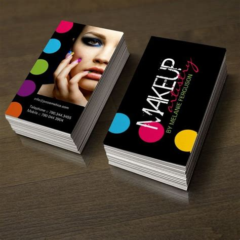 cosmetics business cards templates 1000 images about makeup artist business cards on